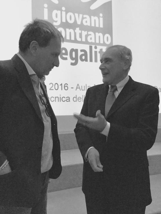 Luca Pagliari e Pietro Grasso
